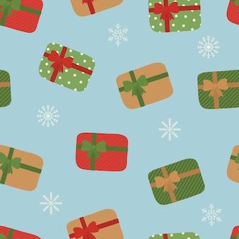 Подарочные коробки с лентой праздничный бесшовный фон