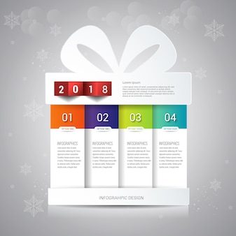 Gift boxing day banner design template.
