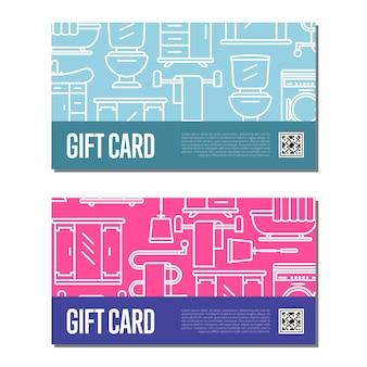 Gift card for bathroom furniture decor