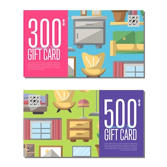 Gift card for bedroom furniture