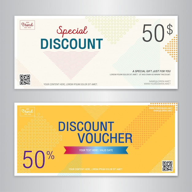 Gift card or cash coupon template