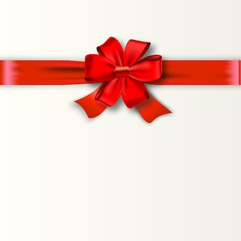 Gift card design with red bow