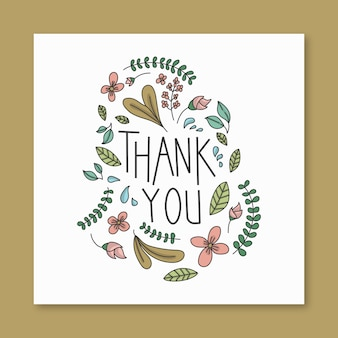 Gift card in floral theme