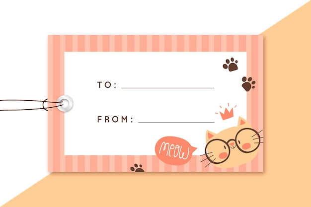 Gift card label editorial template