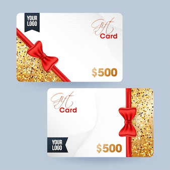 Gift card, voucher or coupon set with best discount offer.