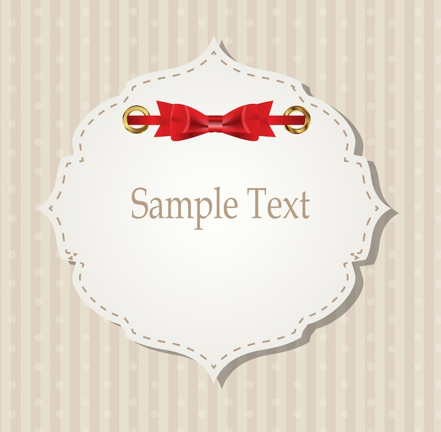 Gift card with ribbons, design elements. vector illustration eps10