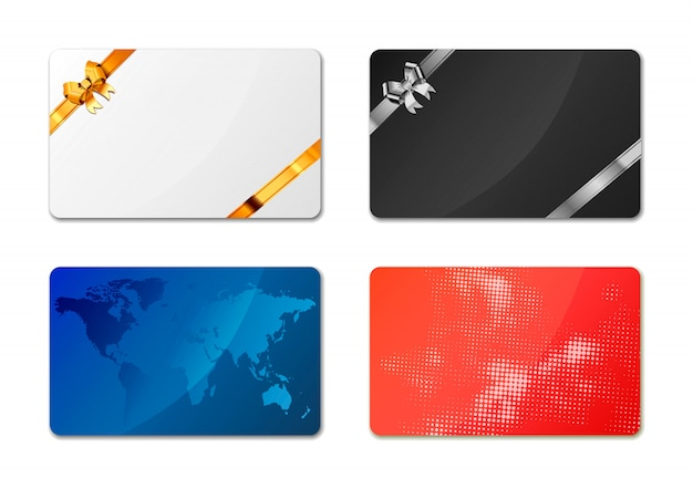 Gift cards on white