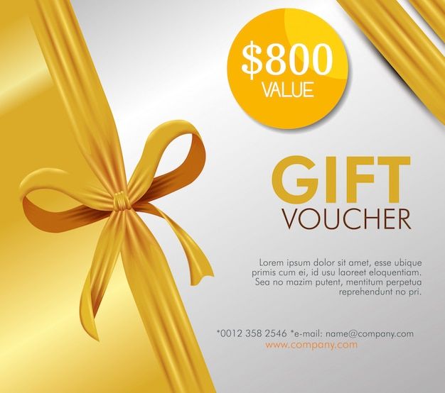 Gift coupon card with special offer