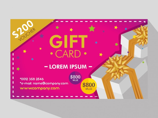 Gift coupon with discount price
