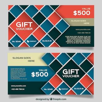 Gift coupons of rhombus