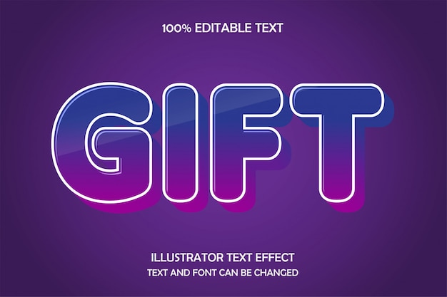 Gift, editable text effect shadow style