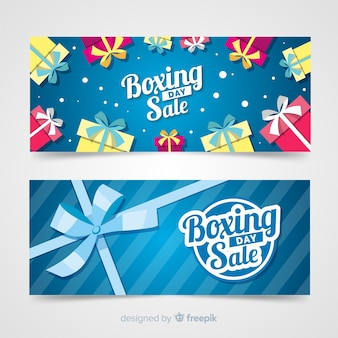 Gift group boxing day template banner