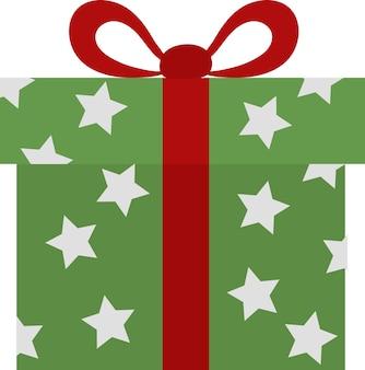 Значок подарка для веб-сайта, документа, дизайна плаката, печати, приложения. рождественский стиль значка концепции