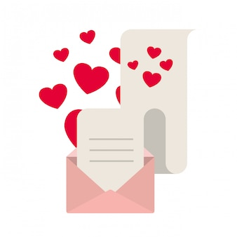 Gift list with envelope isolated icon