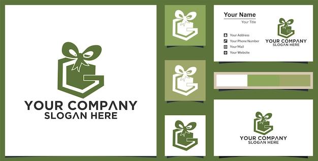 Gift logo vector template modern design premium
