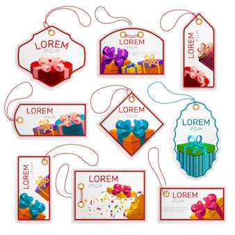 Gift package tags set