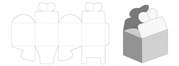 Gift packaging box die cut template design