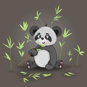 Gift postcard with cartoon animals panda