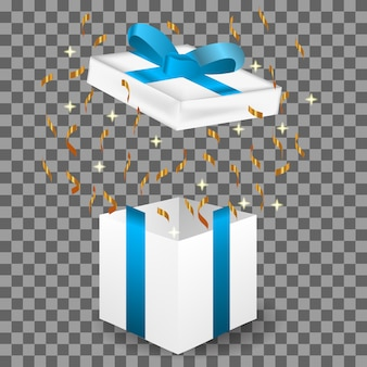 Gift realistic 3d illustration , birthday , christmas, and happy new year