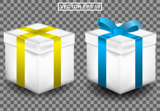 Gift realistic 3d illustration for birthday or christmas