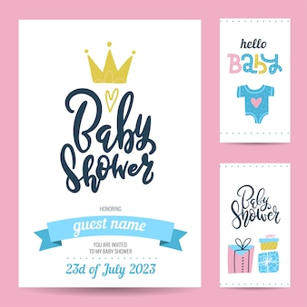 Gift tags and birthday invitation card Premium Vector