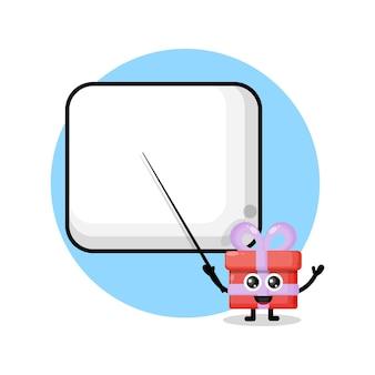 Gift a teacher cute character mascot