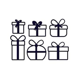 Gift vector icon . illustration design