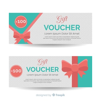 Gift voucher banner with ribbon