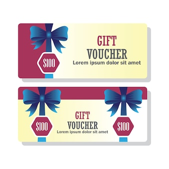 Gift voucher for business concept