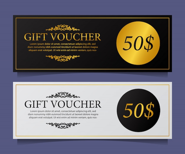 Gift voucher card template