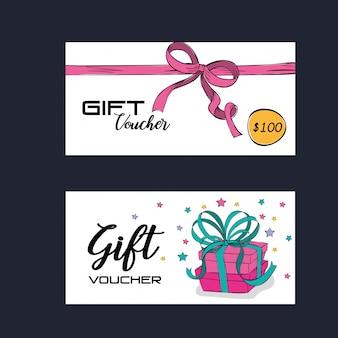 리본 핑크 상품권 카드