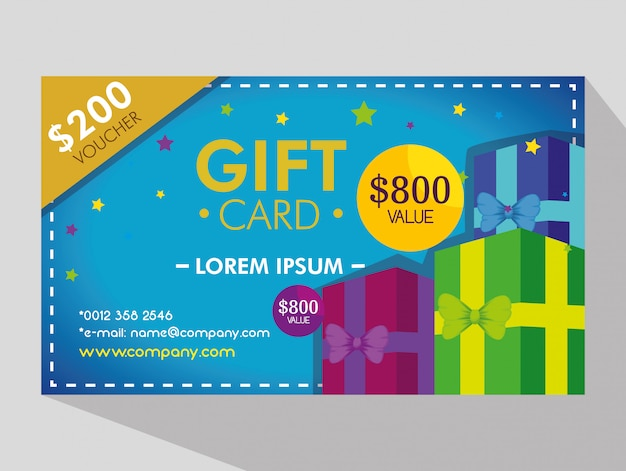 Gift voucher card with special discount