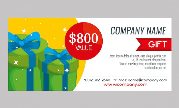 Gift voucher card with special sale