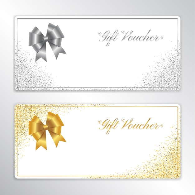 Gift voucher or cash coupon template set