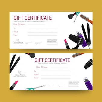 Gift voucher, certificate or discount card template.