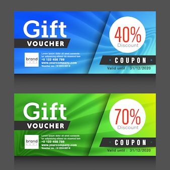 Gift voucher coupon design template.