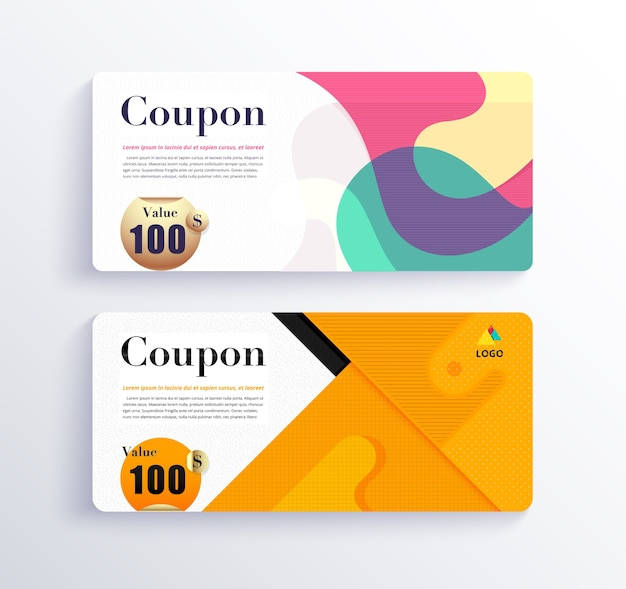 Gift voucher and coupon set
