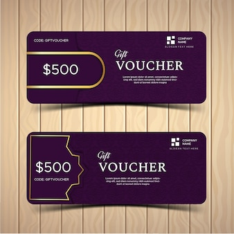 Gift voucher or coupon template layout with different discount offer