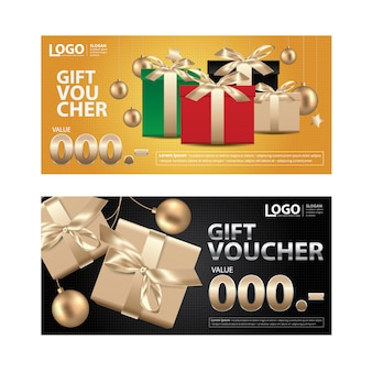 Gift voucher coupon template for your business illustration