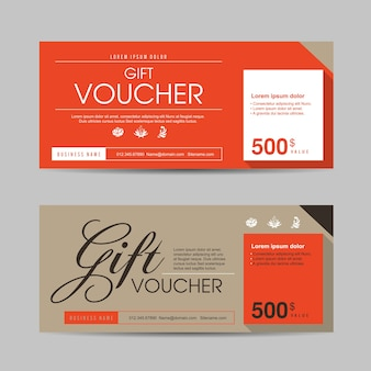 Gift voucher discount promotion template