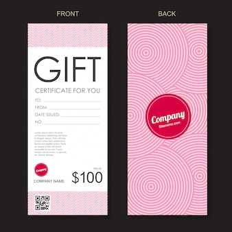 Gift voucher discount template