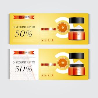 연간 판매 또는 축제 판매를 위한 상품권 하이드레이팅 페이셜 크림 실버 및 오렌지 크림 마스크
