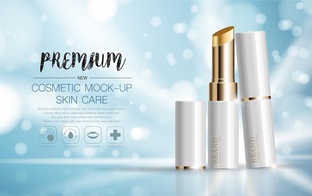 Gift voucher hydrating facial lipstick for annual sale or festival sale silver and gold lipstick