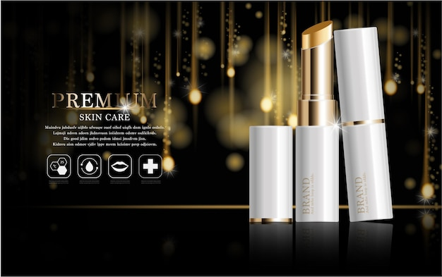 Gift voucher hydrating facial serum for annual sale or festival sale silver and gold serum mask