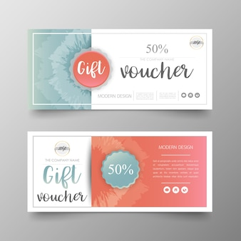 Gift voucher premium layout modern and luxury business template.