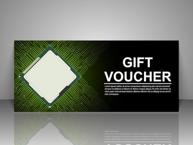 Gift voucher technology template.