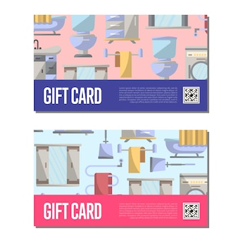 Gift voucher template for bathroom furniture