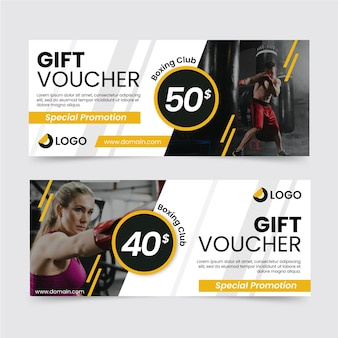 Gift voucher template boxing club