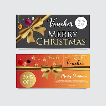 Gift voucher template for christmas