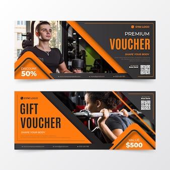 Collezione di modelli di voucher regalo con immagine